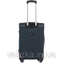 Средний текстильный чемодан на 4-х колесах  темно-зеленый Wings, фото 3