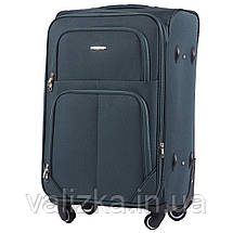 Середній текстильний валізу на 4-х колесах темно-зелений Wings, фото 2