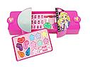 Набор детской косметики в сумочке 77007: лаки для ногтей, помады, тени, румяна, блестки, фото 3