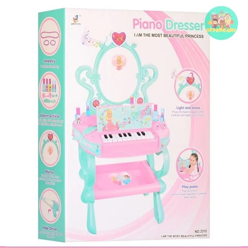 Детское трюмо со стульчиком и пианино с аксессуарами 3315