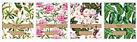 Набор тетрадей ученических Botanique 8 шт по 2 каждого дизайна А5+ 24#, Interdruk Premium