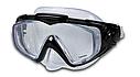 Маска для плавання Intex 55981 для дорослих 2 кольори чорна і синя, фото 2