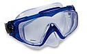 Маска для плавання Intex 55981 для дорослих 2 кольори чорна і синя, фото 4
