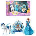 Детский игровой набор для девочек Карета 219A с лошадью и куклой ходит и машет крыльями, фото 3