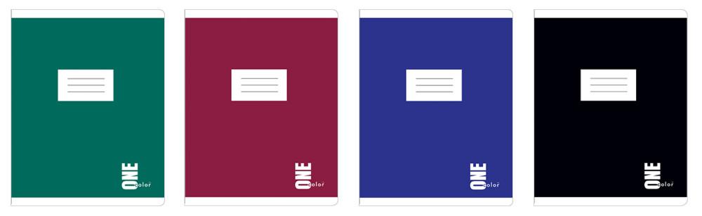 Набор тетрадей ученических One Color 8 шт по 2 каждого дизайна А5+ 12=, Interdruk Premium