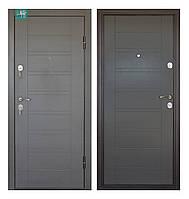 Двери входные металлические Министерство дверей ПБ-206 Beнгe cерый горизонт 860 левая