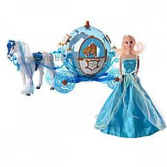 Детский игровой набор для девочек Карета с Золушкой со световыми и звуковыми эффектами, лошадка ходит