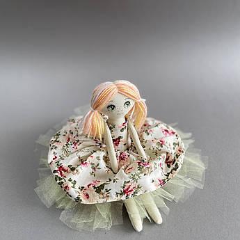 Кукла мягкая игрушка текстиль тильда 36 см