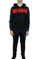 Мужской спортивный костюм NIKE(ткань лакоста).Реплика,черный.Молодежный спортивный костюм, Турция размер 46-52