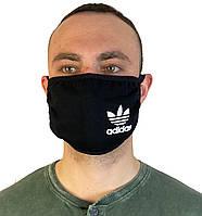 Маска черная на лицо,маска черная для рта и носа. Реплика ADIDAS Маска на лицо Пушка Огонь Токсичный 2