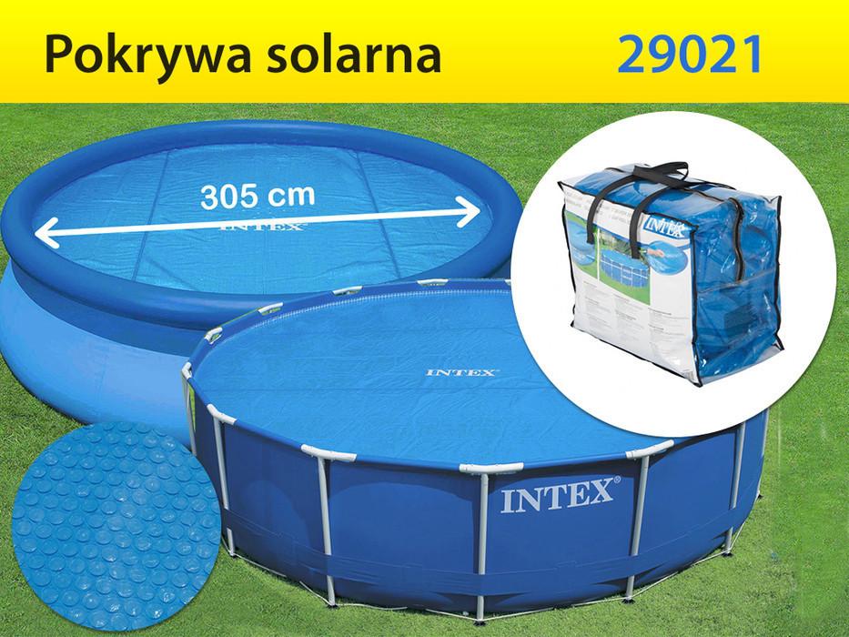 Тент-чохол з обігрівати ефектом Intex 29022 для басейнів діаметром 366 см