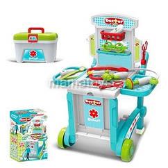 Игровой набор доктора в чемодане - трансформере 4 в 1 на колесах