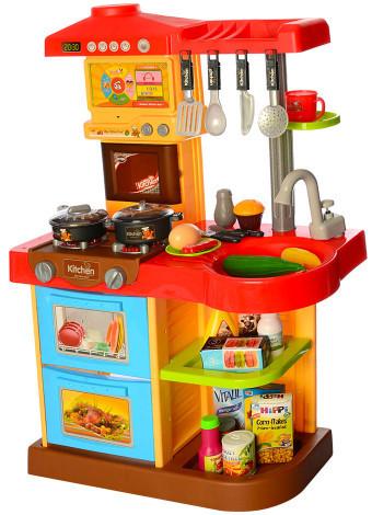 Хорошая Детская Кухня с аксессуарами, Свет, Звук, 72 см. высота Розовый
