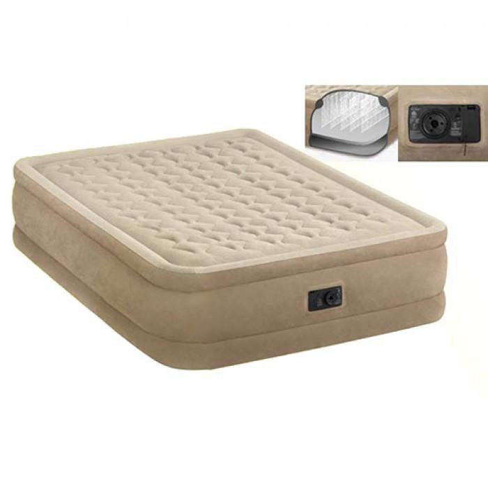 Велюр ліжко Intex 64458 з вбудованим насосом 220В, 152-203-46см