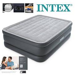 Велюр кровать Intex 64140 со встроенным насосом 220В, 203х152х52см