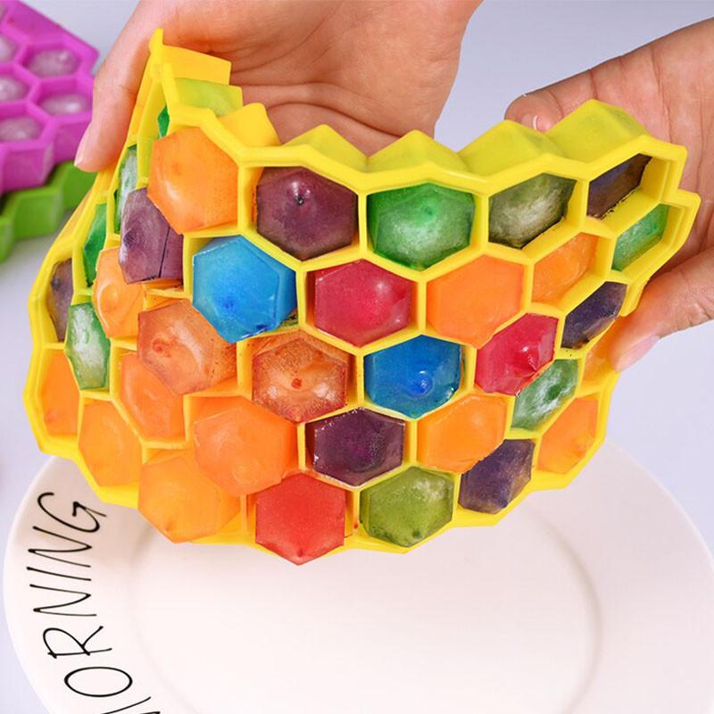 Силиконовая форма для льда CUMENSS Соты Yellow емкость для хранения