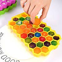 Силиконовая форма для льда CUMENSS Соты Yellow емкость для хранения, фото 2