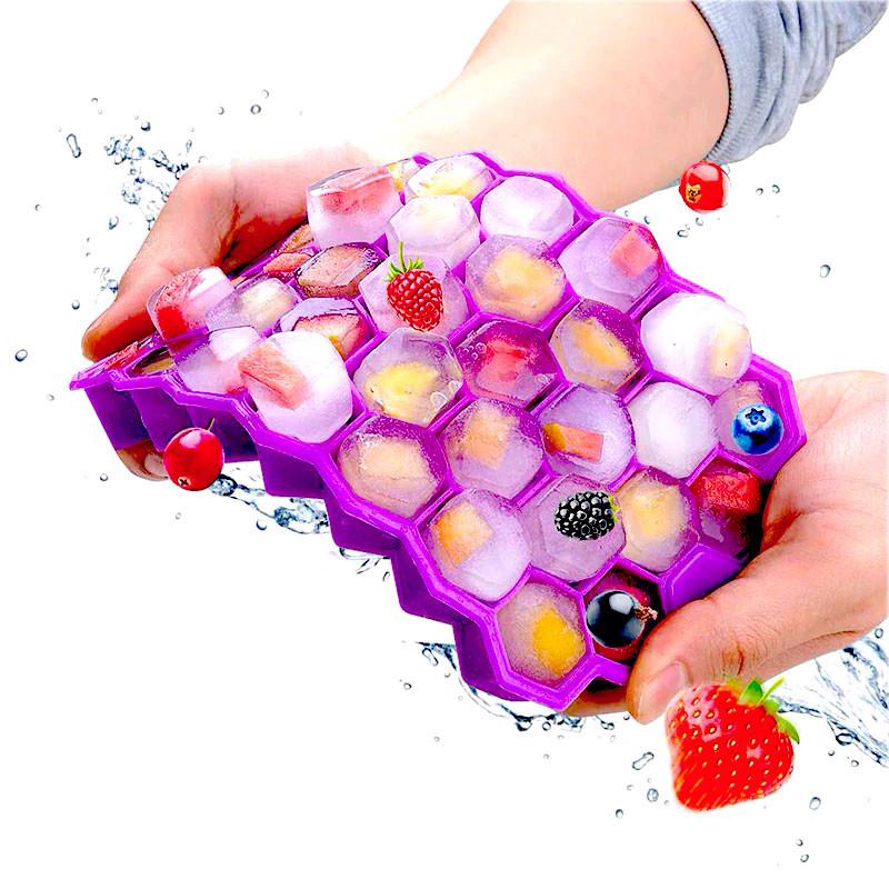 Силиконовая форма для льда CUMENSS Соты Purple емкость для хранения