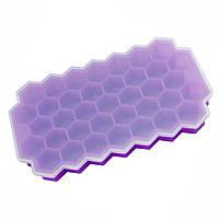 Силиконовая форма для льда CUMENSS Соты Purple емкость для хранения, фото 3