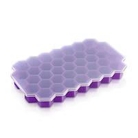 Силиконовая форма для льда CUMENSS Соты Purple емкость для хранения, фото 4