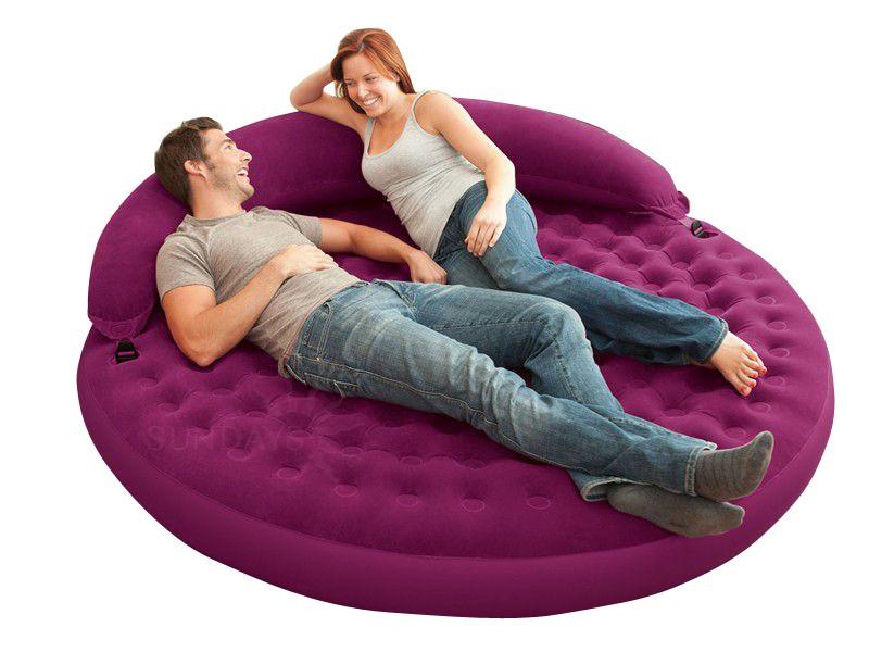 Надувная кровать Intex 68881 круглая со съемным изголовьем