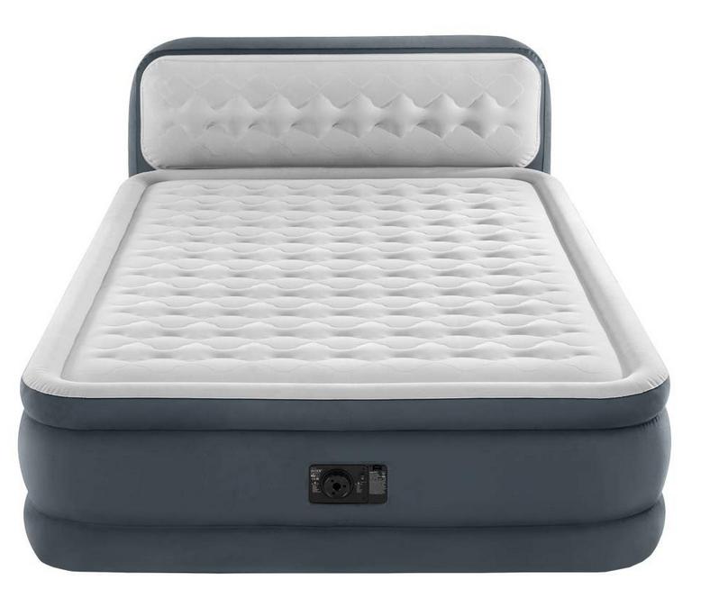 Надувная двуспальная кровать со спинкой Intex 64448 152х236х86см