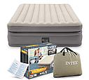 Надувная двуспальная кровать со спинкой Intex 64448 152х236х86см, фото 4