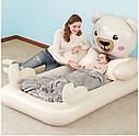 Надувна односпальне ліжко Bestway 67712 ведмедик Teddy 188х109х89 см, фото 3
