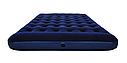 Надувной матрас двухместный Bestway 67226 синий с подголовником и встроенным насосом 203х152х22 см, фото 2