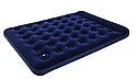 Надувной матрас двухместный Bestway 67226 синий с подголовником и встроенным насосом 203х152х22 см, фото 3