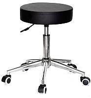 Стул мастера Key (Кей) на колесиках эк черный CH- Modern Office, мебель для салонов красоты 10946