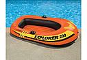 Надувная двухместная лодка Intex 58356 Explorer Pro 200 196х102х33 см, фото 2