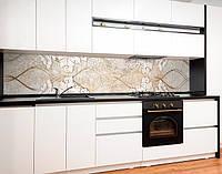 Стеновая панель с фотопечатью песочная абстракция, вензеля, ленты Самоклейка 60 х 250 см