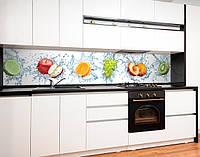 Кухонный фартук для кухни фрукты в воде, цитрус 3D Самоклейка 60 х 250 см
