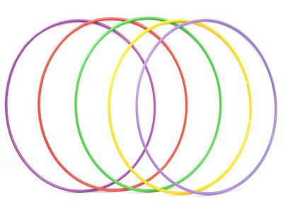Обруч Гимнастический массажный Хула хуп металлический ( 5 цветов )