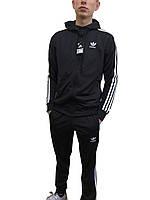 Мужской спортивный костюм (ткань лакоста),копия,молодежный спортивный костюм, костюм три полосы размер 46-52
