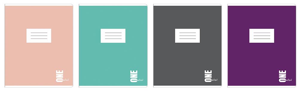 Набор тетрадей ученических One Color 8 шт по 2 каждого дизайна А5+ 12#, Interdruk Premium