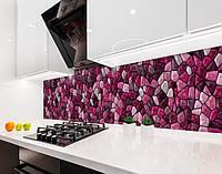 Кухонні панелі фартухи мозаїка, текстура, рубінові камені на самоклеючій плівці або ПВХ панель Самоклейка 60 х