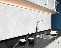 Стеновая панель с фотопечатью мрамор, серый камень, текстура на самоклеящейся пленке или ПВХ панель Самоклейка 60 х 250 см