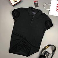 Мужская футболка хлопок поло классическая молодежная черная Турция. Живое фото. Топ качество