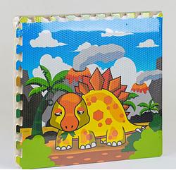 Развивающий коврик-пазл Динозавр