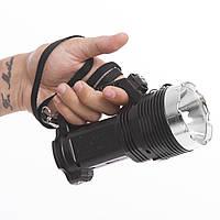 Ліхтарик ручної кемпінговий (для машини) BL-6870-USB (пластик, 8+1 світлодіодів, l-17см, чорний)
