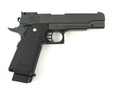 Пистолет страйкбольный G.6+ с пульками,кобурой в коробке 22*16*5см