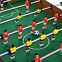 Дитячий футбол 20435 в дерев'яному корпусі, з приставними ніжками, по 4 штанги у кожного гравця, 106-60см, фото 2