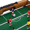 Дитячий футбол 20435 в дерев'яному корпусі, з приставними ніжками, по 4 штанги у кожного гравця, 106-60см, фото 3