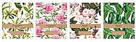 Набор тетрадей ученических Botanique 8 шт по 2 каждого дизайна А5+ 12#, Interdruk Premium