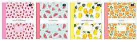 Набор тетрадей ученических Fruit Garden 8 шт по 2 каждого дизайна А5+ 12#, Interdruk Premium