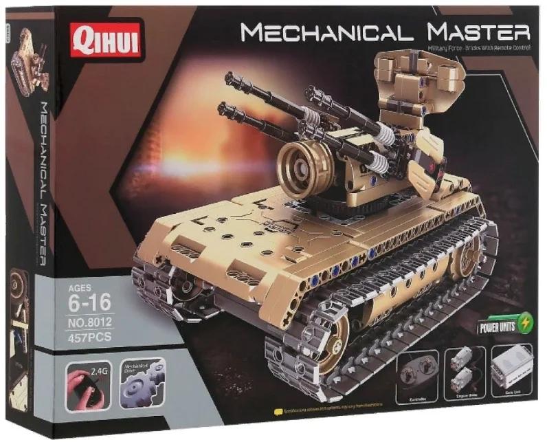 Конструктор QIHUI Зенитный Танк на радиоуправлении 8012 (457 деталей)