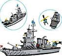 Конструктор BRICK 208885/112 Військовий корабель, 970 деталей, фото 2