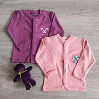 Кофта кардиганом распашонка на кнопках для новорожденных Зайка Цветок Польша Одяг на немовлят